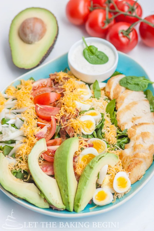 Cobb Salad - a classic salad that can be served as an entree that will keeps you full and satisfied. By Let the Baking Begin!