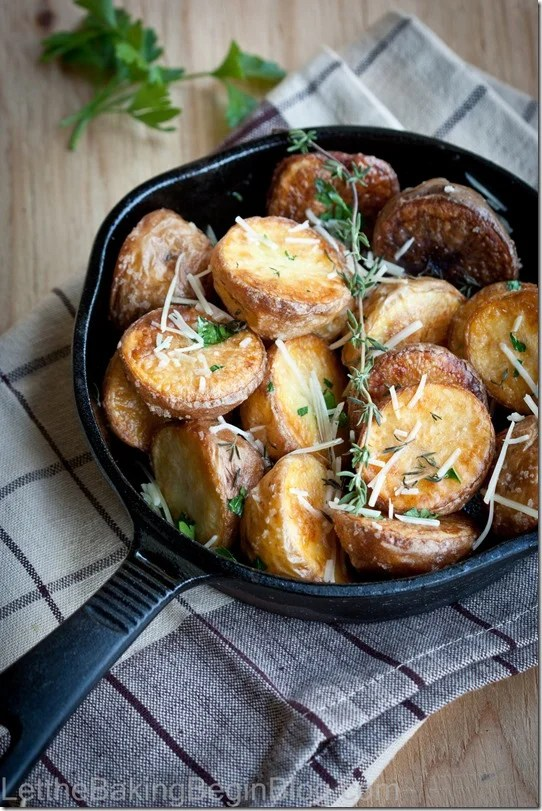 Perfectly Crispy Oven Roasted Potatoes are crispy on the outside and nice and creamy on the inside! Learn all the tricks to getting the crispest roasted potatoes!