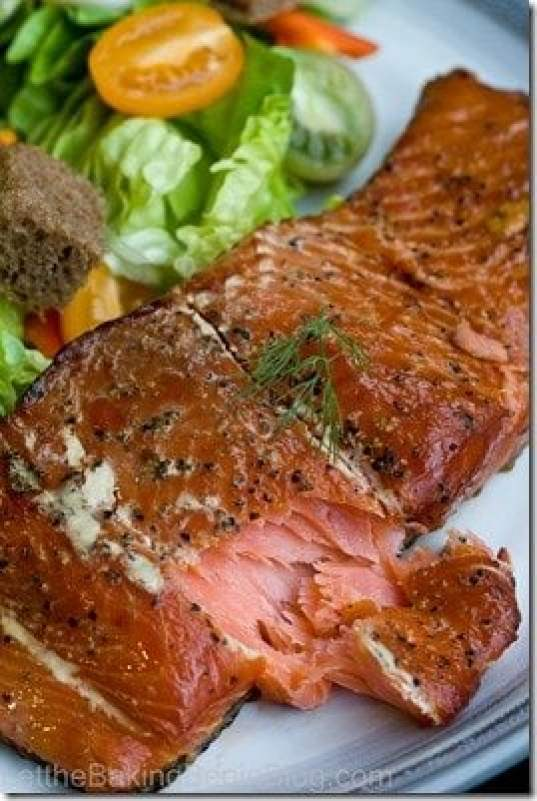 Smoked salmon made in the comfort of your own home. Delicious, moist smoked salmon fillet.