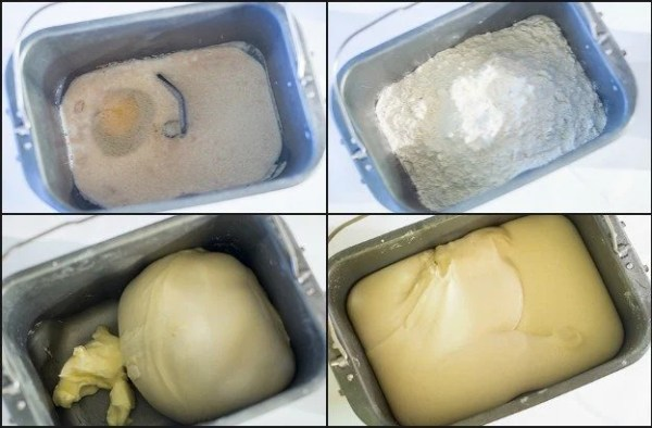 Step by step instructions on how to make the dough for super soft doughnuts with sugar glaze recipe.