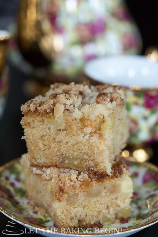 Apple Coffee Cake with Streusel Topping is a moist cake made with fresh apples and a delicious crumb topping. This Coffee Cake Recipe will become your favorite!