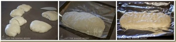 How to shape the bread and place into baking sheet to rise before baking.