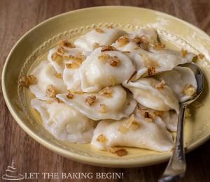 Potato Pierogi {Vareniki} are dumplings filled with potatoes and caramelized onions. Comfort food at it's best!