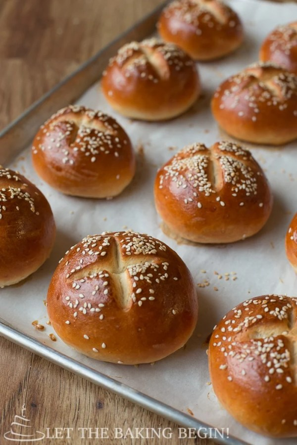 These homemade buns are soft, buttery and full of flavor.