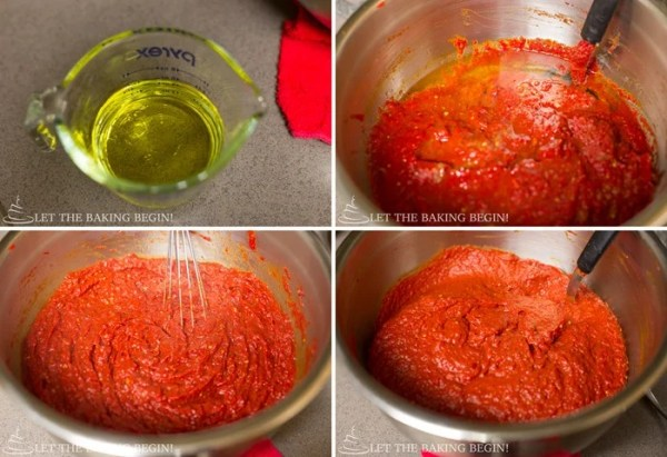 Spicy, beautifully roasted pepper spread or dip, that you can put on a piece of fresh crusty bread, dip your melted cheese Panini sandwich in, or add broth and make it into a rich velvety soup. by Let the Baking Begin Blog!