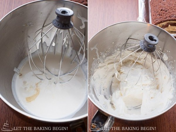 How to make chantilly cream by adding all the ingredients and mixing for three to four minutes.