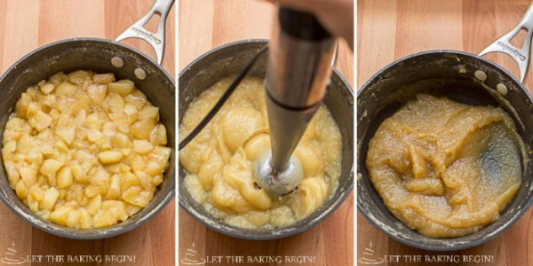 How to prepare the apple butter for this simple apple butter cake.