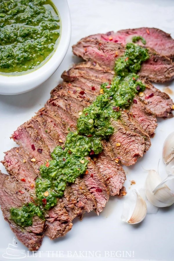 Chimichurri Sauce Recipe is must-know recipe if you love meat and fish! You can serve this garlicky, herb goodness with literally any meat or fish, be it cooked, grilled or even sautéed. The sauce takes seconds to whip up, just load the blender or a food processor with ingredients and whizzzzz!