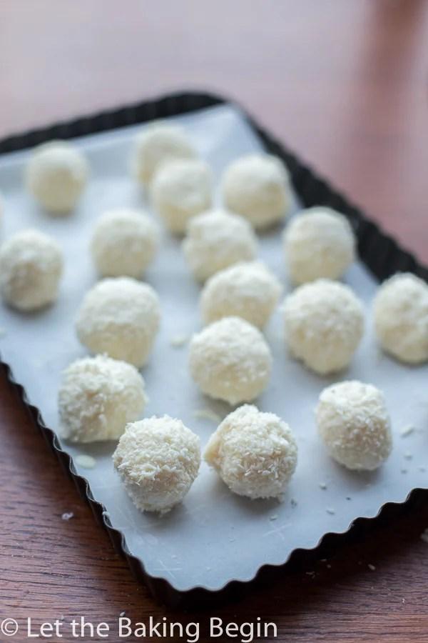 White Chocolate Coconut Candy (Raffaello Copycat) - Let the