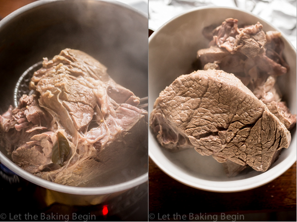 How to cook the beef chuck in a pot.