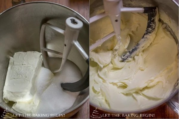 How to make cheesecake layer by mixing ingredients in a mixing bowl.