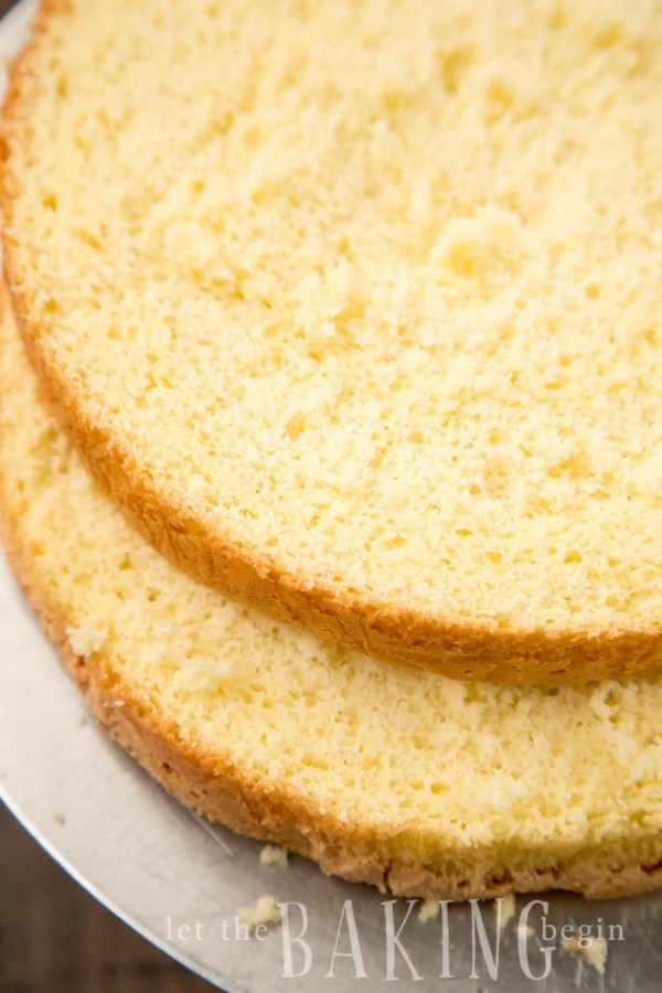 Easy recipe for a basic yellow sponge cake recipe.