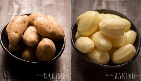 How to peel and rinse potatoes.
