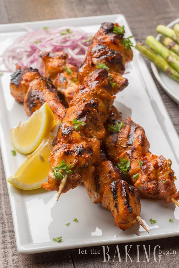 This Grilled Chicken Kabobs Recipe uses a flavorful spice combination to give the juicy chunks of meat a kick of heat and flavor. This is my go to recipe when I want dinner on the table in 30 minutes or less. You can use the spice blend to marinate the chicken ahead of time, or make it right before grilling. The flavor will be amazing, either way!