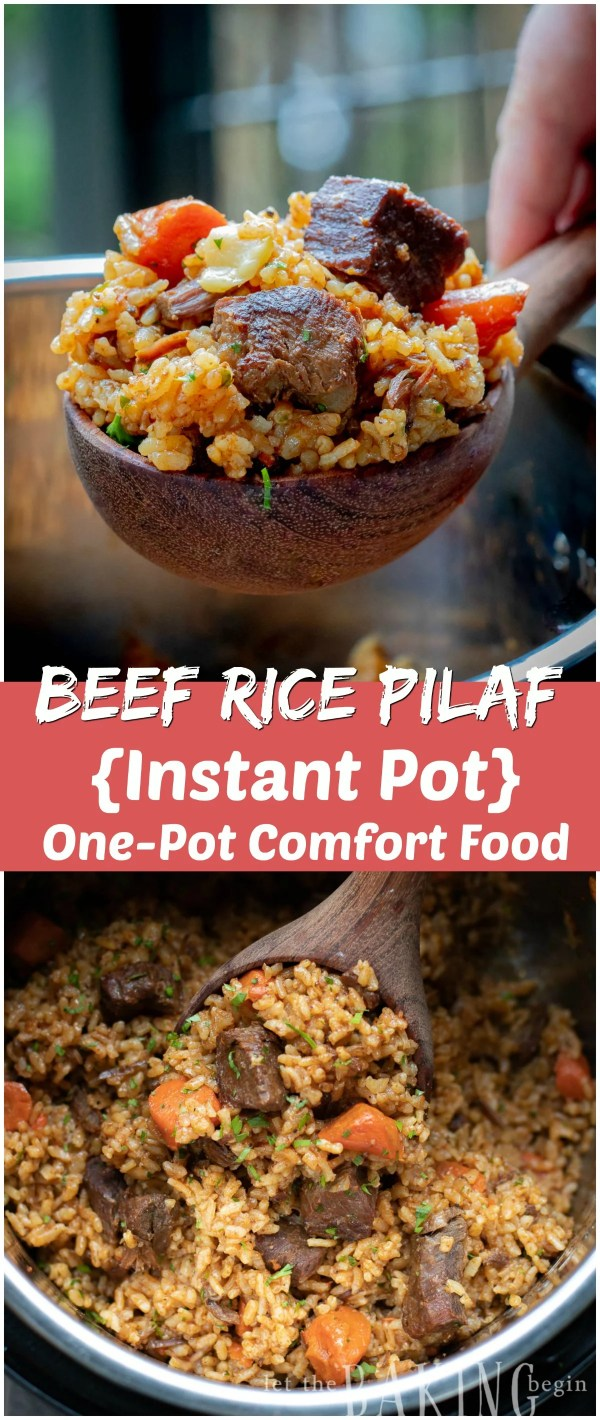 A hearty meal of rice and beef all cooked in one pot at a fraction of the time. The rice is well infused with the flavor of beef and spices and makes the best rice you will ever have!