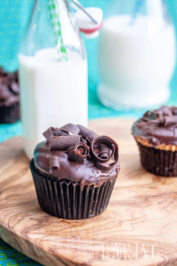 Chocolate Dulce de Leche Cupcakes