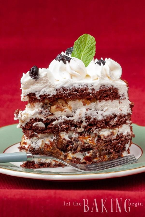 Chocolate Walnut Prune cake