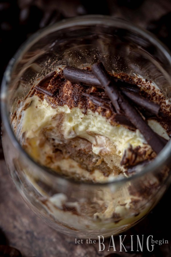 Tiramisu Recipe - no bake dessert with fluffy and creamy Sabayon based Tiramisu cream and coffee soaked ladyfingers. #nobakedessert #tiramisu #cake #individualdessert