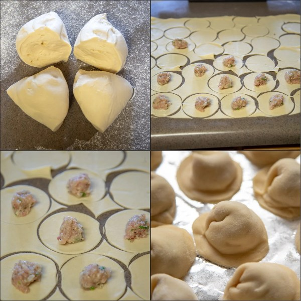 Step by step photo instructions for shaping pelmeni by hand