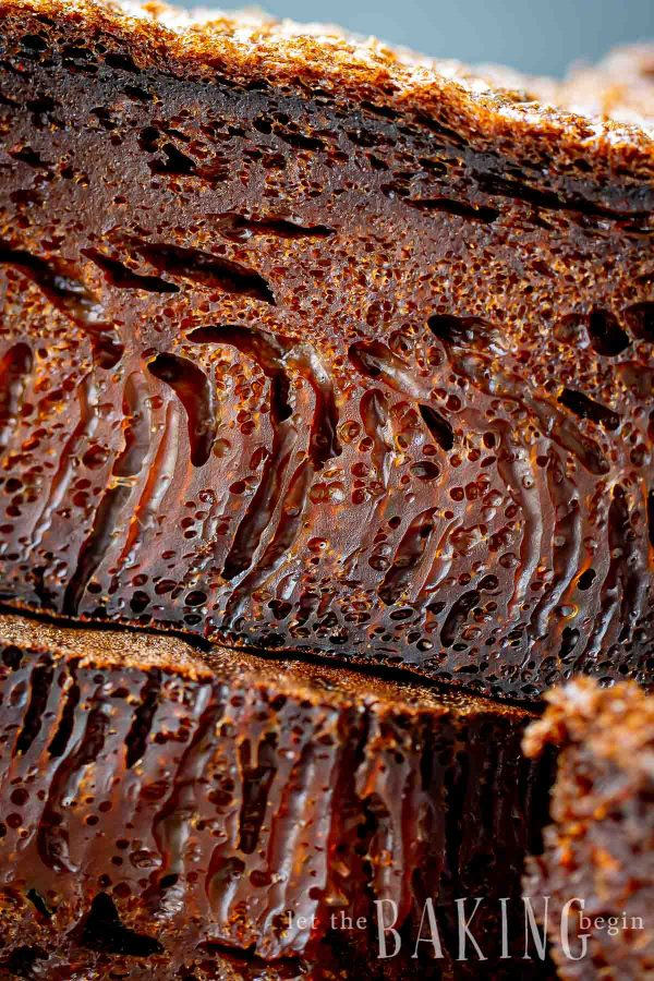 Close up shot of Moldovan honeycomb cake.