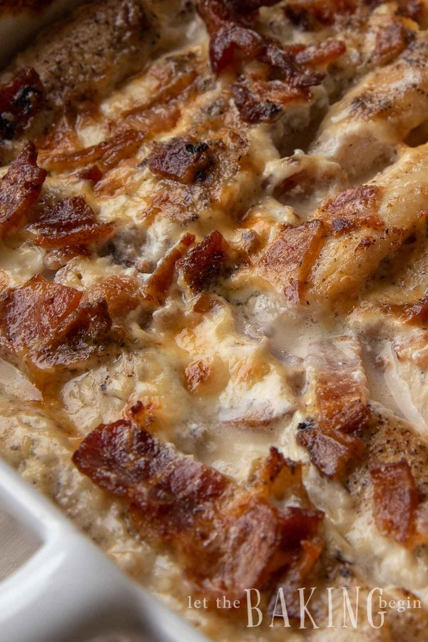 Close up of the chicken bacon ranch recipe.