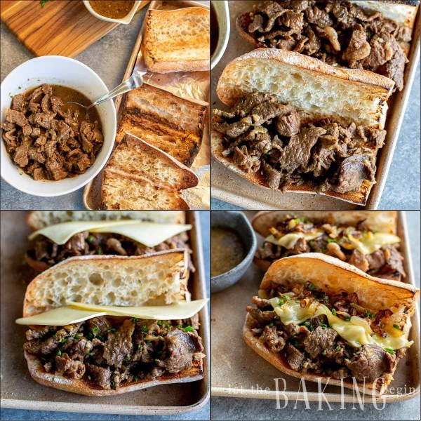 How to serve a french dip sandwich step by step