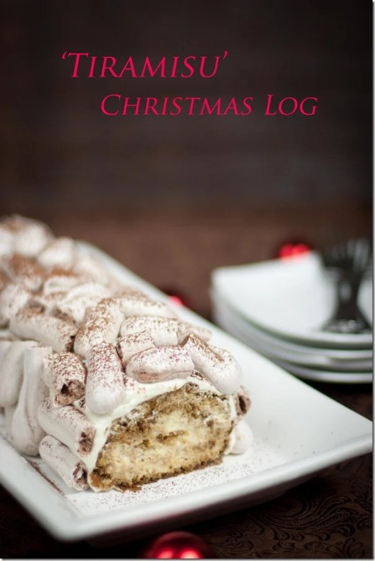 Tiramisu Roll with Meringue Logs - super moist and creamy this Tiramisu Roll is sure to impress!   by Let the Baking Begin!