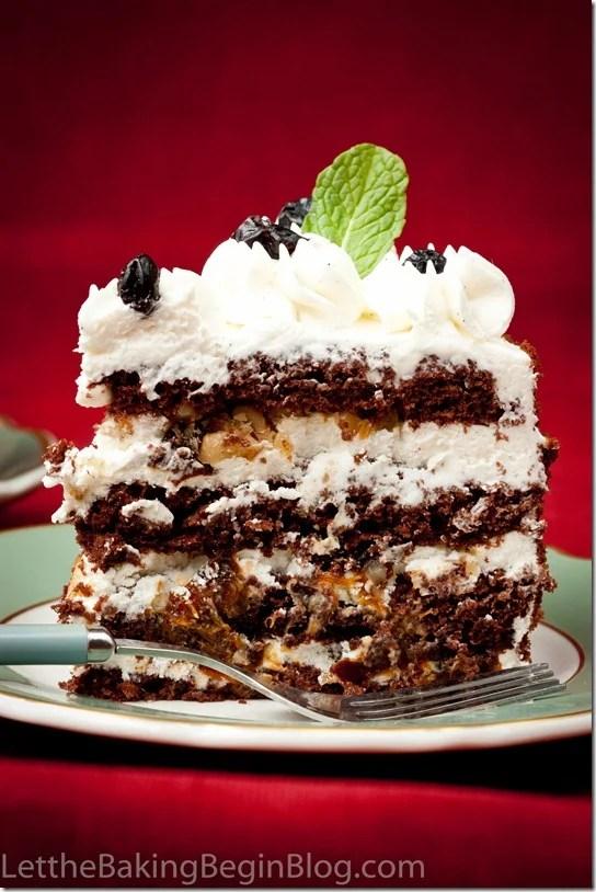 Chocolate Cake w/ Walnuts & Prunes {Шоколадный торт с Черносливом}