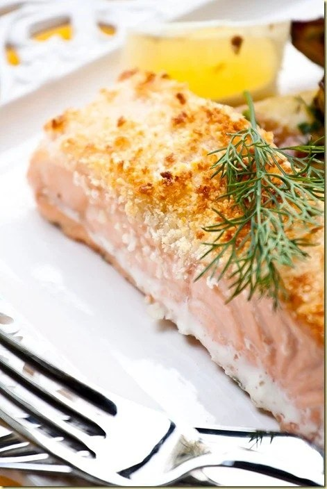 Parmesan Crusted Salmon (adapted from Cook's Illustrated)