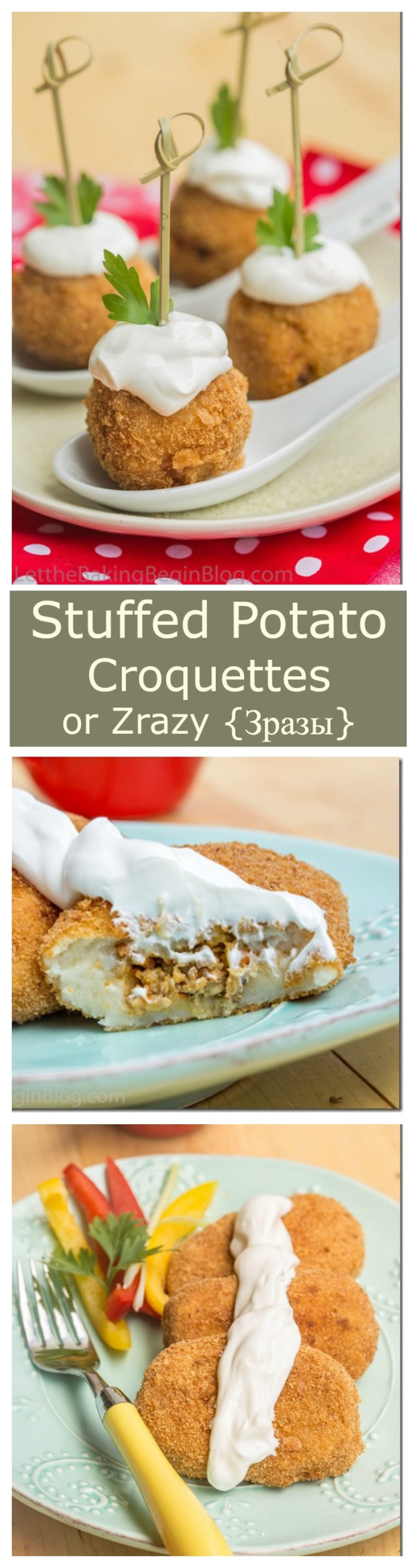 Stuffed Potato Croquettes or Mashed Potato Pancakes filled with Meat are perfect dish to make with leftover mashed potatoes.