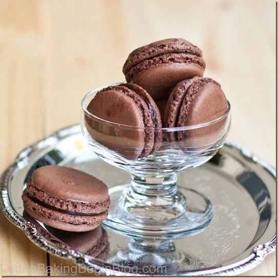 Fragile, yet soft; fudgy and full of intoxicating chocolate Dark Chocolate Truffle Macarons are amazing! by LetTheBakingBeginBlog.com