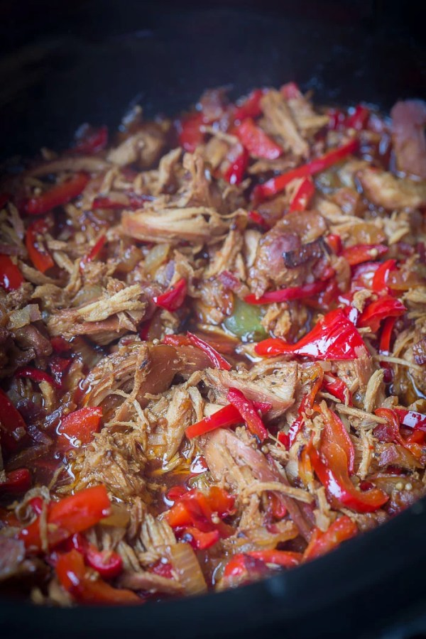 Pulled Chicken and Bell Pepper - LetTheBakingBeginBlog.com