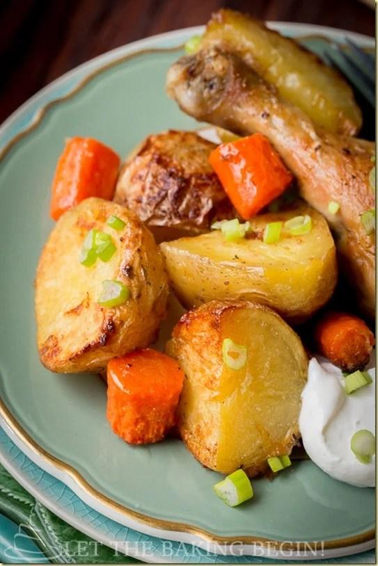 recipe: roasted drumsticks and vegetables [23]