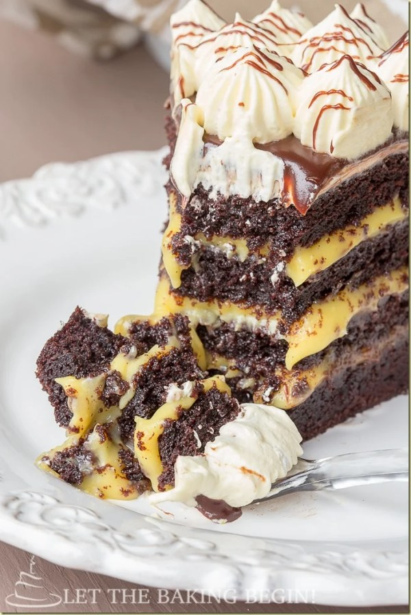 Chocolate Layer Cake Ganache Custard