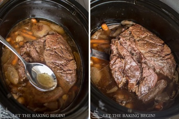 Perfectly Simple Pot Roast - Isn't it awesome that you can cook something like the picture above all while you're at work, or out doing stuff?