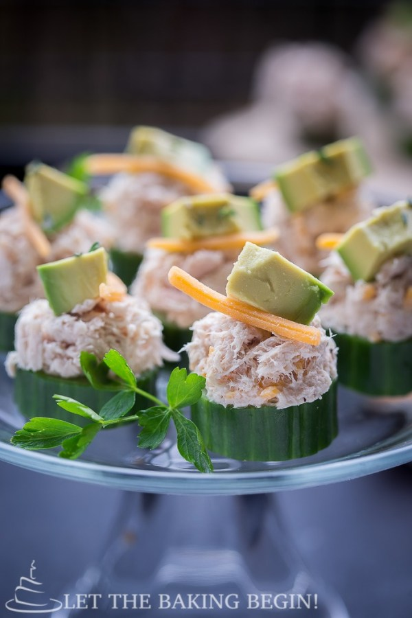 Cucumber Tuna Cups - tasty fresh appetizer that looks and taste great, be it a snack or a meal. by LetTheBakingBeginBlog.com | @Letthebakingbgn