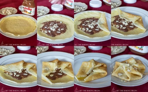 Nutella Stuffed Crepes & 3 Ways to Fold Them | By LetTheBakingBeginBlog.com | @Letthebakingbgn