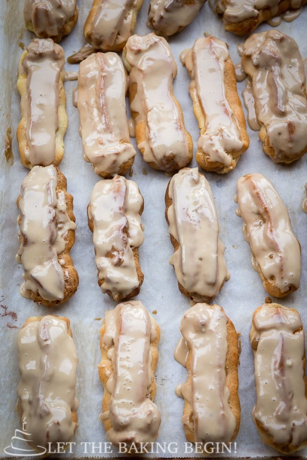 Maple Glazed Coffee Eclair By LetTheBakingBeginBlog.com | @Letthebakingbgn