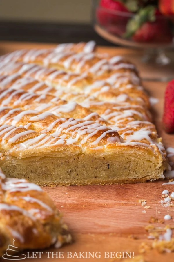 Almond Filled Puff Pastry Braid - Just like the Bear Claw, just much, much easier! by @Letthebakingbgn | LetTheBakingBeginBlog.com