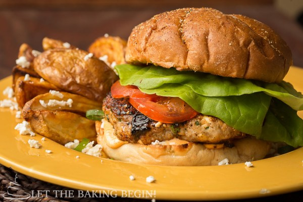 Chicken Feta Burger, homemade, delicious , and incredibly easy to make! by @Letthebakingbgn | LetTheBakingBeginBlog.com_-3