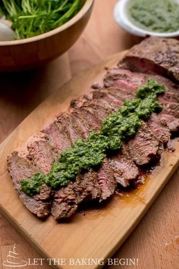 Grill Pan Skirt Steak - Delicious, juicy steak with grill- No problem! As long as you have a skillet or a grill pan you're good! - LetTheBakingBeginBlog.com - @Letthebakingbgn