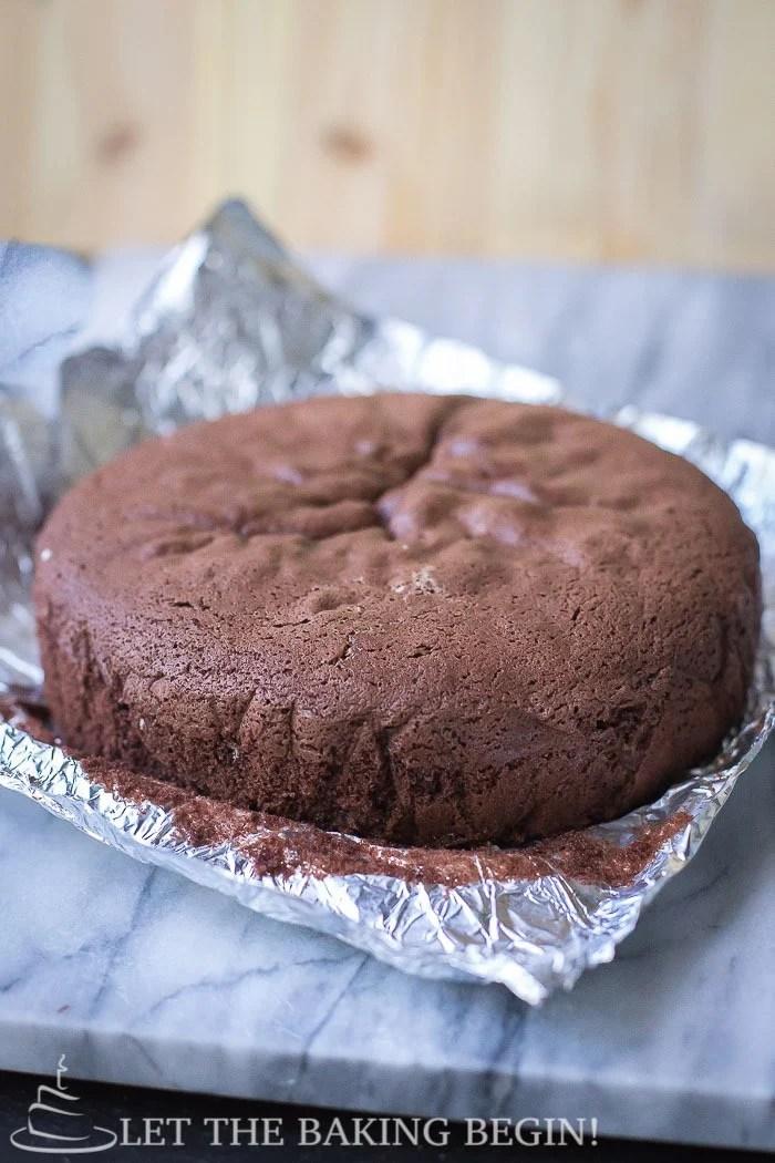 Ingredients baking chocolate cake