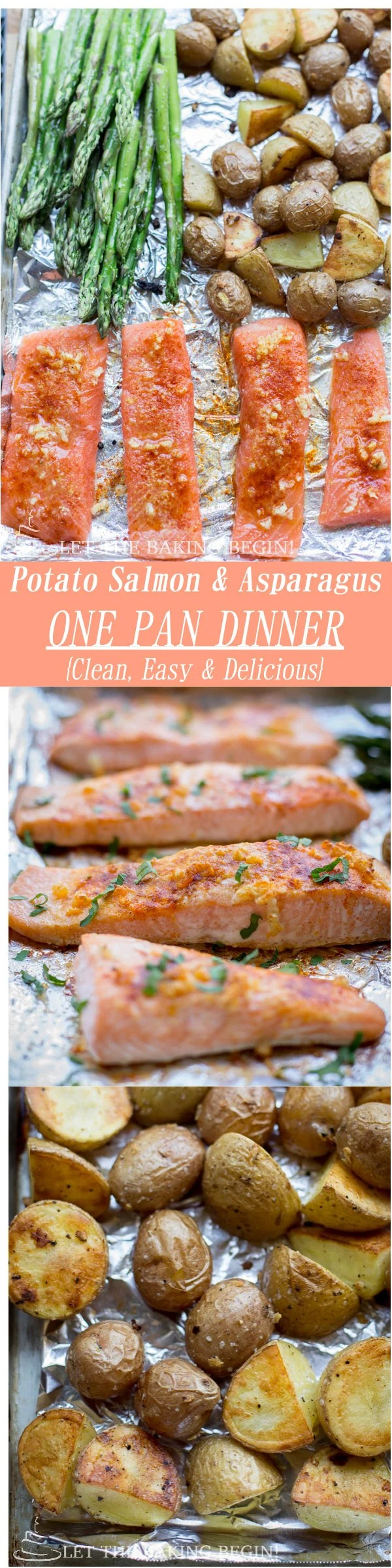 Potato Salmon Asparagus One Pan Dinner €� Clean, Easy And Delicious Way To  Make Dinner