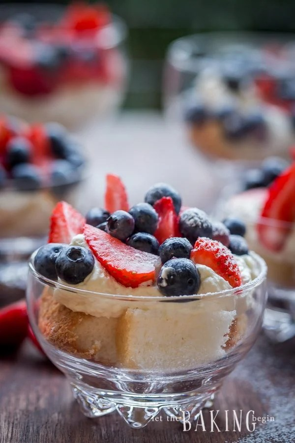 Cheesecake and Berry Trifle - A Refreshing Dessert filled with juicy berries and delicious cheesecake | Let the Baking Begin!