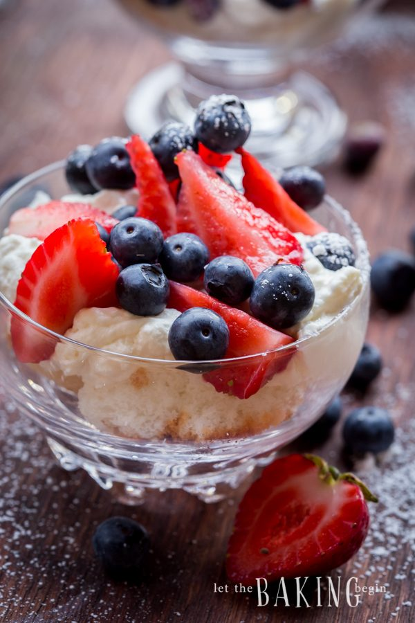 Cheesecake and Berry Trifle - A Refreshing Dessert filled with juicy berries and delicious cheesecake   Let the Baking Begin!