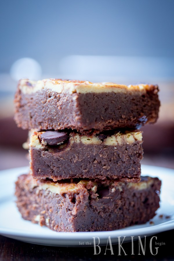 Cheesecake Brownie - delicious fudgy brownie topped with slightly tangy cheesecake | Let the Baking Begin!