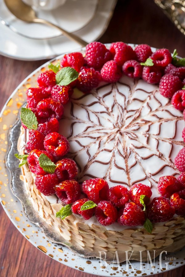 Esterhazy - Exceptional Hungarian cake made of Hazelnut Meringue and rich Custard Buttercream   By Let the Baking Begin!