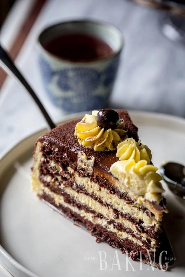 Bird's Milk Cake Recipe (Ptiche Moloko) - Layered Cake of Chocolate Angel Food Cake and Custard Buttercream | By Let the Baking Begin!