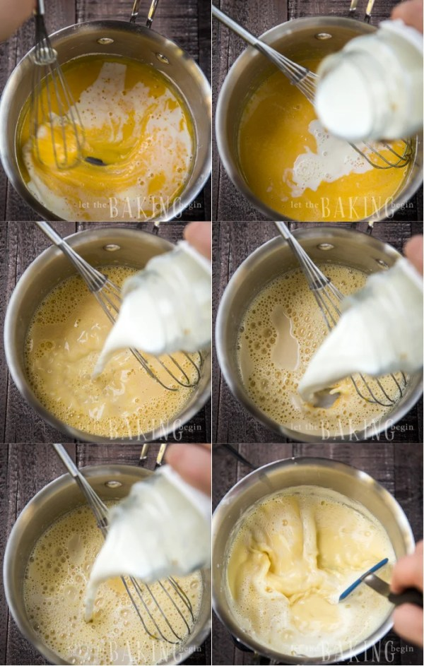 Dulce de Leche Mousseline Cream - this pastry cream fluffed up with butter is used to frost cakes, sandwich meringues and adorn other desserts. Dulce de Leche gives the classic custard flavor a bit of a flavor boost. | By Let the Baking Begin!