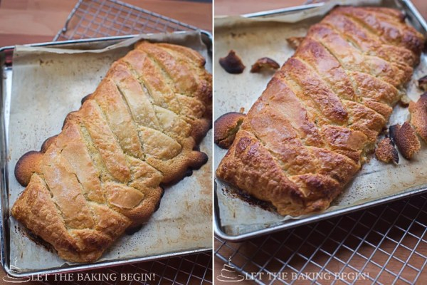 Almond Filled Puff Pastry Braid - Just like the Bear Claw, just much, much easier! by @Letthebakingbgn   LetTheBakingBeginBlog.com